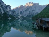 lake dolomite centre based hiking trip Italy